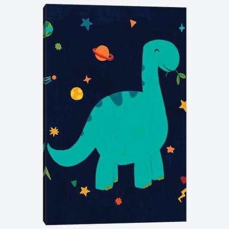 Starry Dinos IV Canvas Print #JEV2429} by June Erica Vess Art Print