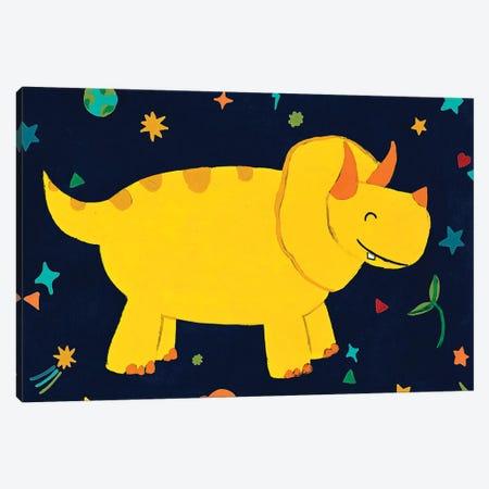 Starry Dinos V Canvas Print #JEV2430} by June Erica Vess Canvas Wall Art