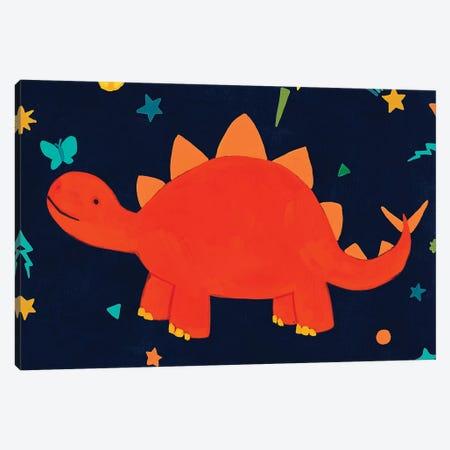 Starry Dinos VI Canvas Print #JEV2431} by June Erica Vess Canvas Wall Art