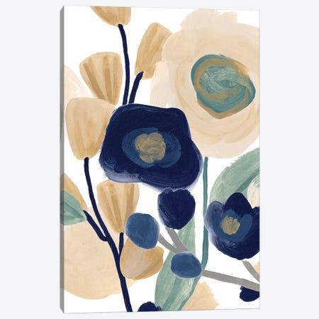Blue Poppy Cascade I Canvas Print #JEV2457} by June Erica Vess Canvas Print