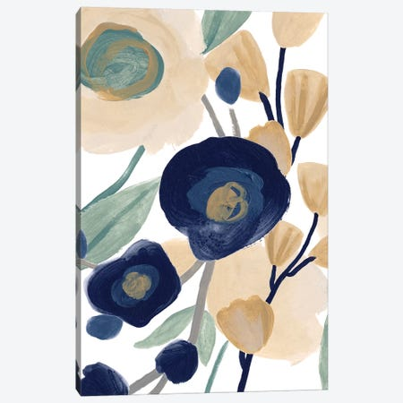 Blue Poppy Cascade II Canvas Print #JEV2458} by June Erica Vess Canvas Artwork