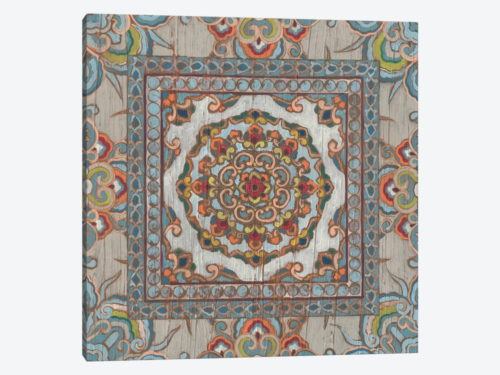 Boho Textile I by June Erica Vess 1-piece Canvas Artwork