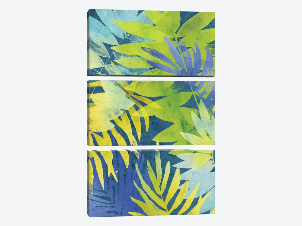 Tropical Indigo II by June Erica Vess 3-piece Canvas Art Print