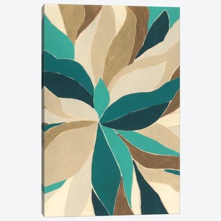 Colorblock Blossom I Canvas Print #JEV2478} by June Erica Vess Canvas Wall Art