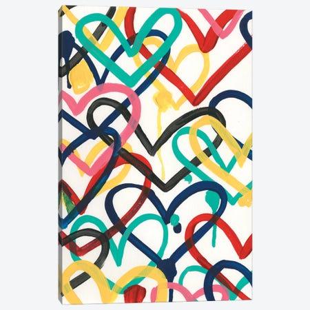 Heart Scribbles II Canvas Print #JEV2487} by June Erica Vess Canvas Wall Art