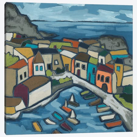 Mosaic Harbor I Canvas Print #JEV2513} by June Erica Vess Art Print