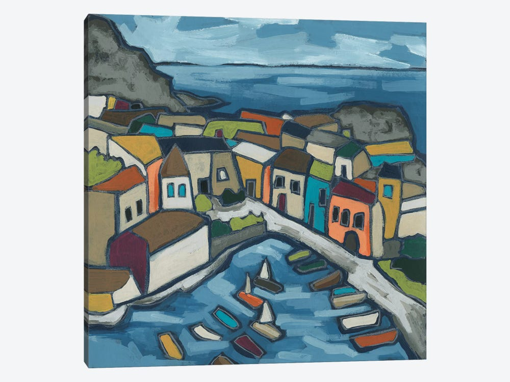Mosaic Harbor I by June Erica Vess 1-piece Canvas Print