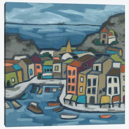 Mosaic Harbor II Canvas Print #JEV2514} by June Erica Vess Canvas Wall Art
