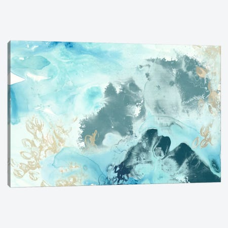 Aqua Wave Form I Canvas Print #JEV257} by June Erica Vess Canvas Artwork