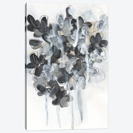 Monochrome Flora I Canvas Print #JEV2588} by June Erica Vess Canvas Artwork
