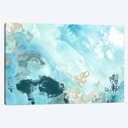 Aqua Wave Form II Canvas Print #JEV258} by June Erica Vess Art Print