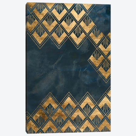 Deco Pattern in Blue III Canvas Print #JEV2635} by June Erica Vess Art Print