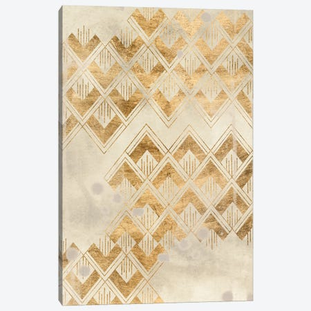 Deco Pattern in Cream II Canvas Print #JEV2638} by June Erica Vess Canvas Artwork