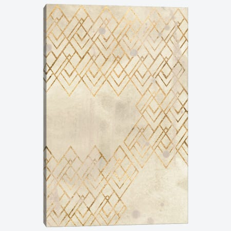 Deco Pattern in Cream IV Canvas Print #JEV2640} by June Erica Vess Art Print