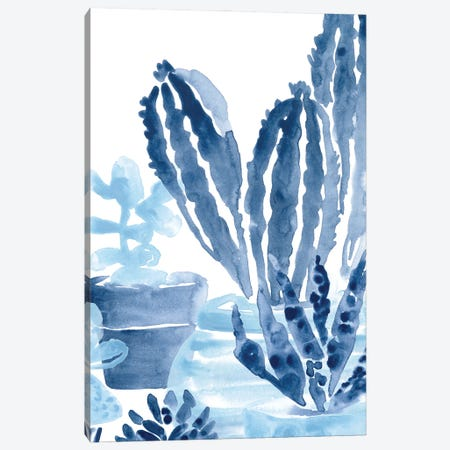 Indigo Succulent I 3-Piece Canvas #JEV2645} by June Erica Vess Canvas Art