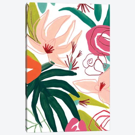 Tropical Confetti III Canvas Print #JEV2656} by June Erica Vess Art Print