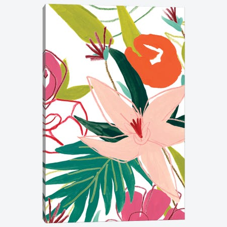 Tropical Confetti IV 3-Piece Canvas #JEV2657} by June Erica Vess Art Print