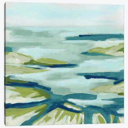 Blue Delta I Canvas Print #JEV2658} by June Erica Vess Canvas Wall Art