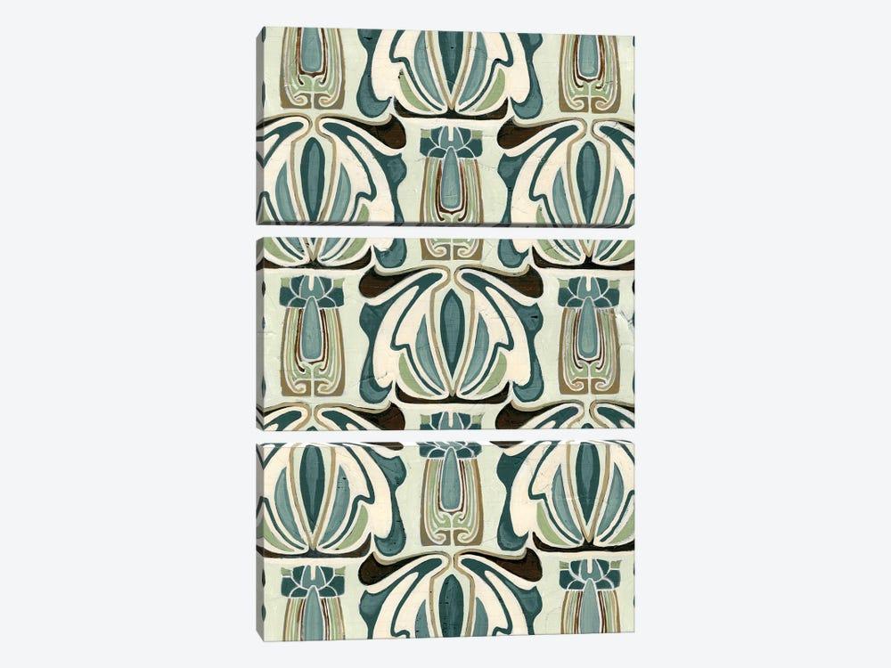 Deco Parlor Pattern I by June Erica Vess 3-piece Canvas Print