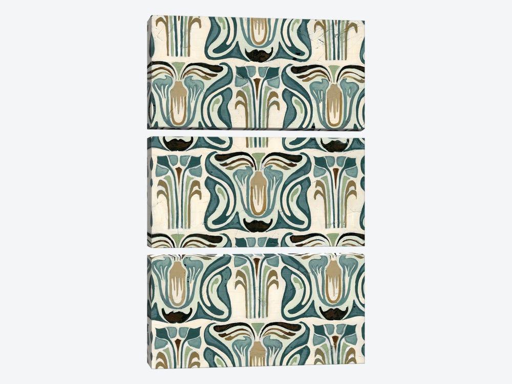 Deco Parlor Pattern II by June Erica Vess 3-piece Canvas Wall Art