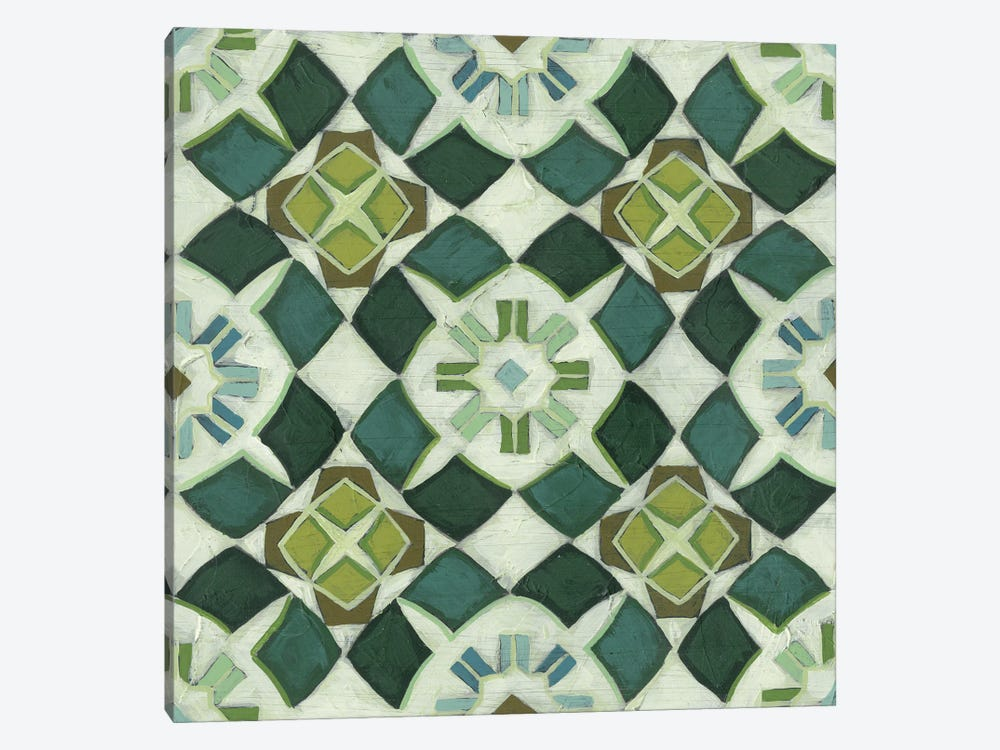 Palm Piazza Tile II by June Erica Vess 1-piece Canvas Print