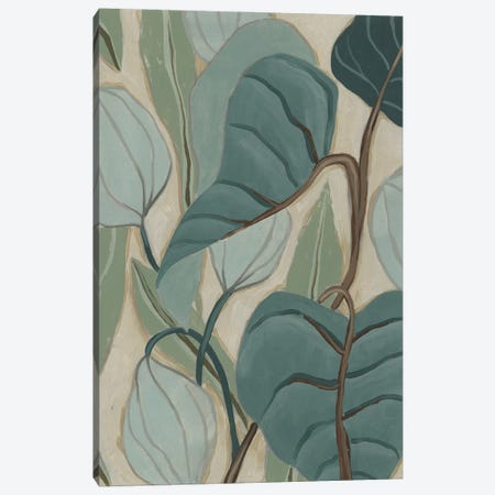 Slate Palms I Canvas Print #JEV2676} by June Erica Vess Canvas Art Print
