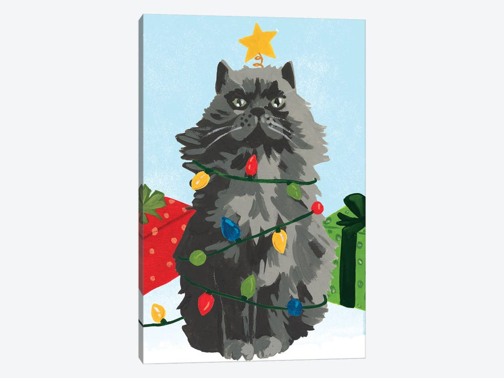 Meowy Hissmas I by June Erica Vess 1-piece Canvas Art