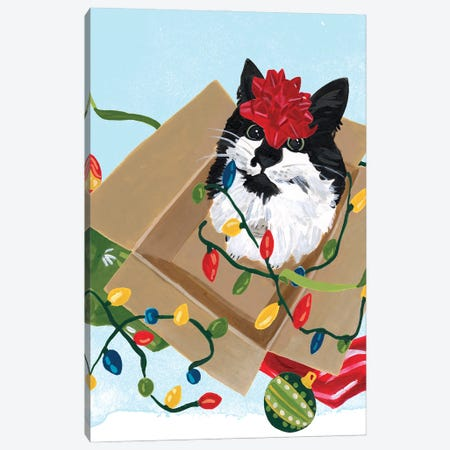 Meowy Hissmas II Canvas Print #JEV2679} by June Erica Vess Canvas Artwork