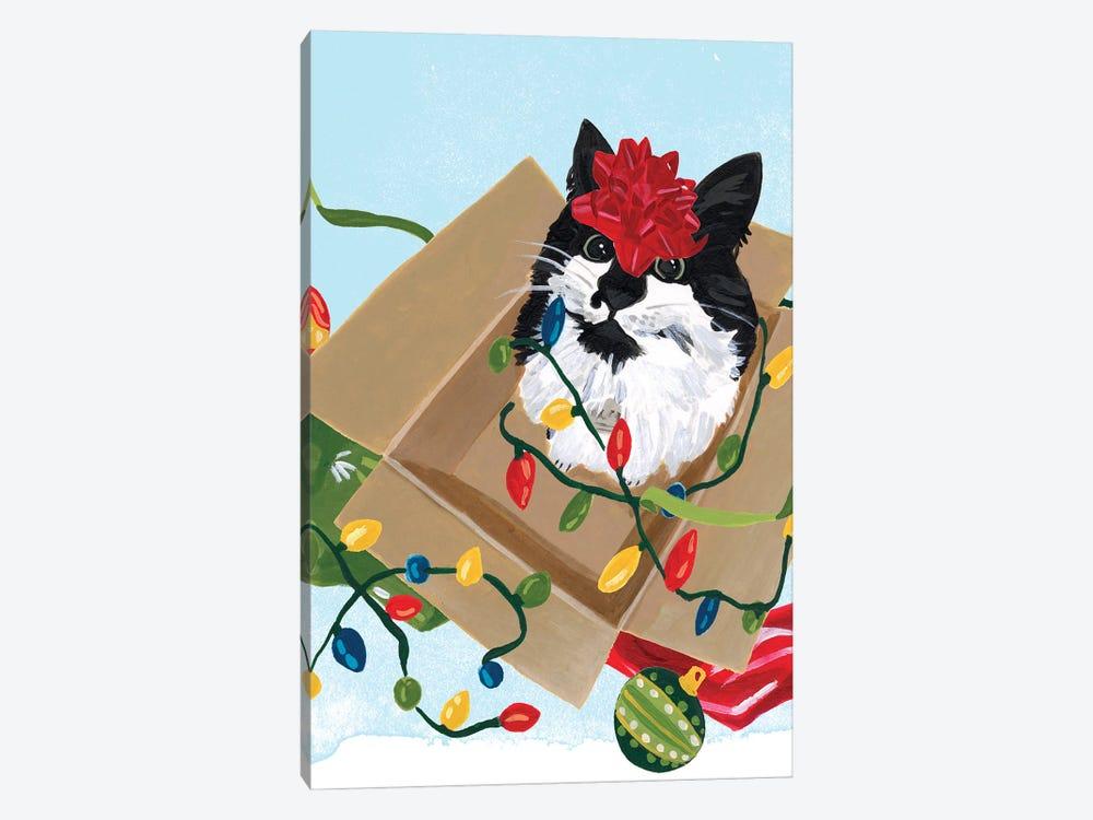 Meowy Hissmas II by June Erica Vess 1-piece Canvas Art Print