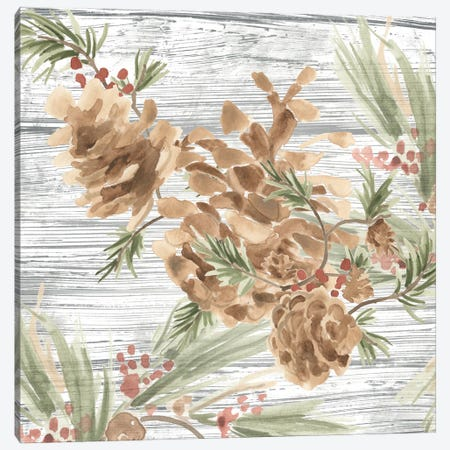 Pinecone Lodge III Canvas Print #JEV2682} by June Erica Vess Canvas Art Print