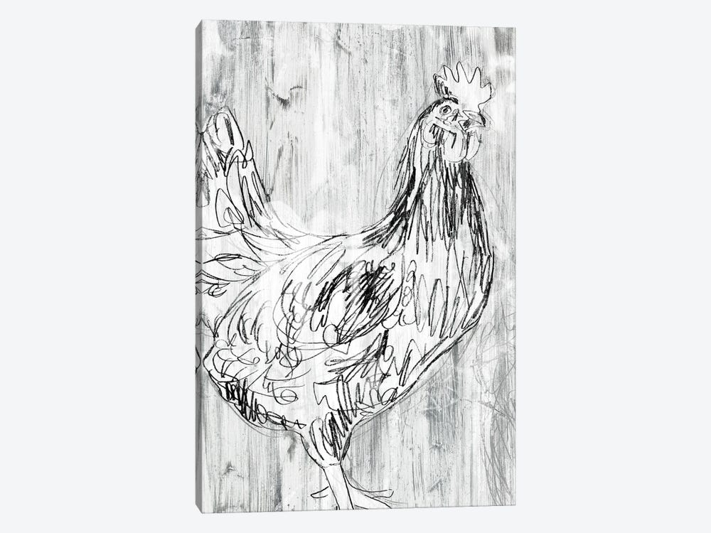 Barnwood Flock I by June Erica Vess 1-piece Canvas Art