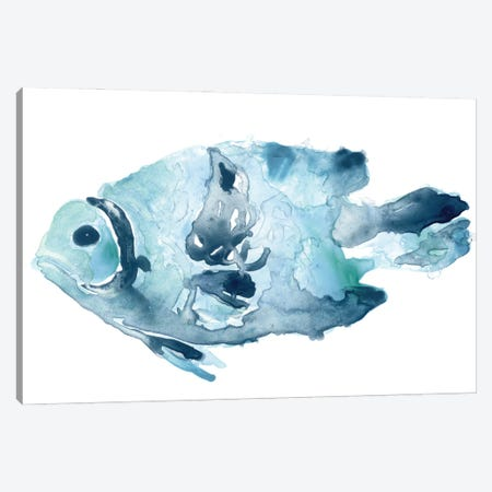 Blue Ocean Fish II Canvas Print #JEV2701} by June Erica Vess Canvas Art