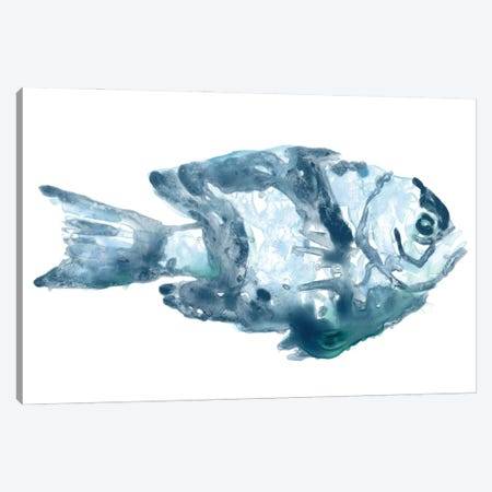 Blue Ocean Fish III Canvas Print #JEV2702} by June Erica Vess Canvas Artwork