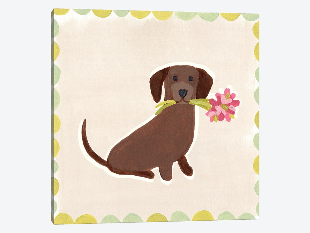 Dachshund Delight IV by June Erica Vess 1-piece Canvas Wall Art