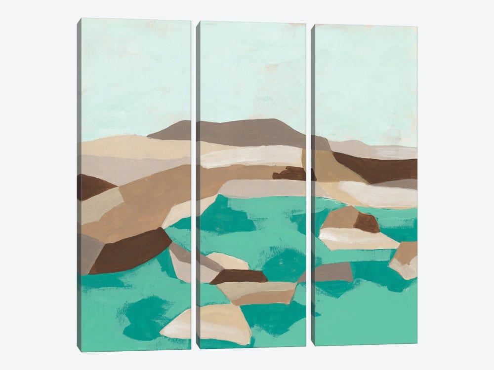 Geometric Shoals I by June Erica Vess 3-piece Canvas Print