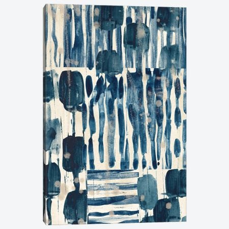 Indigo Patchwork I Canvas Print #JEV2722} by June Erica Vess Canvas Art