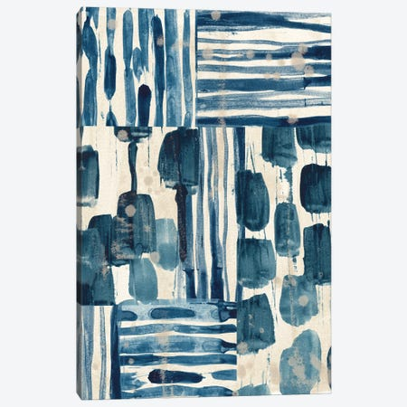Indigo Patchwork II Canvas Print #JEV2723} by June Erica Vess Canvas Artwork