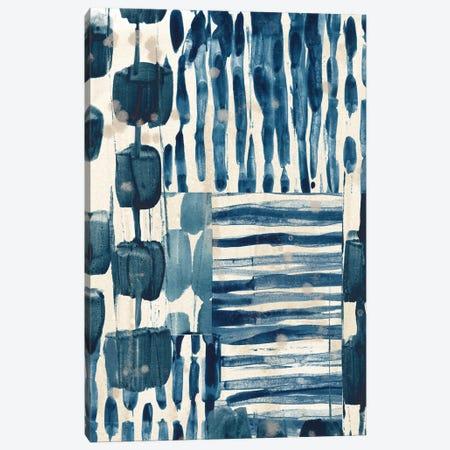 Indigo Patchwork III Canvas Print #JEV2724} by June Erica Vess Canvas Print
