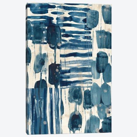 Indigo Patchwork IV Canvas Print #JEV2725} by June Erica Vess Art Print