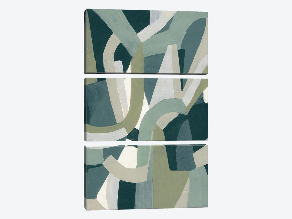 Limestone Puzzle I by June Erica Vess 3-piece Canvas Art
