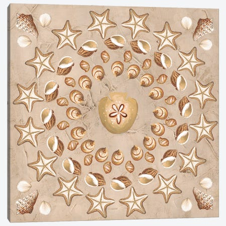 La Mer Medallions III Canvas Print #JEV2745} by June Erica Vess Canvas Art Print