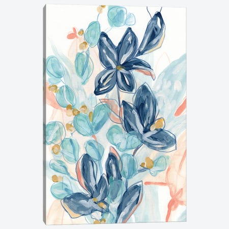 Blooming Blues I Canvas Print #JEV2748} by June Erica Vess Canvas Wall Art