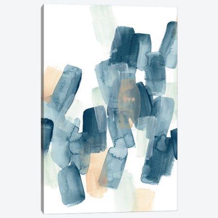 Indigo Facets III Canvas Print #JEV2819} by June Erica Vess Canvas Artwork