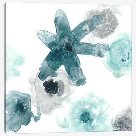 Floating Indigo II Canvas Print #JEV281} by June Erica Vess Canvas Art