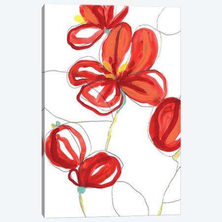 Primary Petal I Canvas Print #JEV2882} by June Erica Vess Canvas Art Print