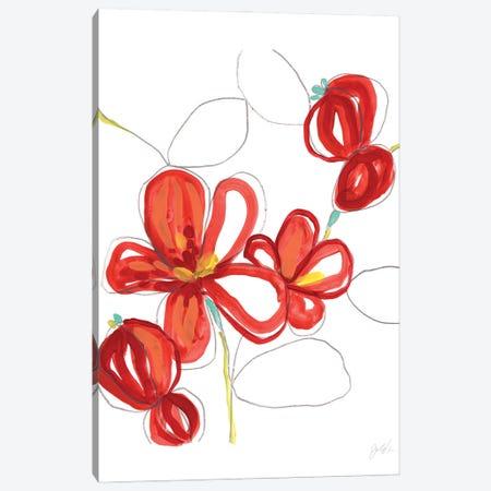 Primary Petal II Canvas Print #JEV2883} by June Erica Vess Art Print