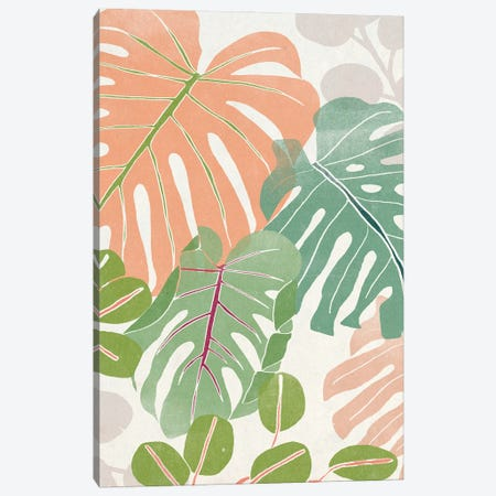 Sherbet Tropical II Canvas Print #JEV2898} by June Erica Vess Canvas Art