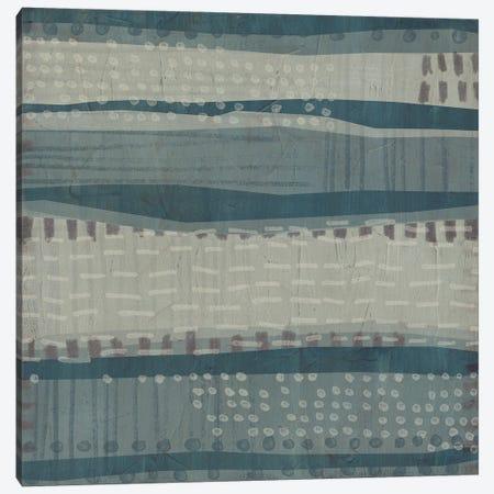 Blue Dusk Textile I Canvas Print #JEV2940} by June Erica Vess Canvas Art
