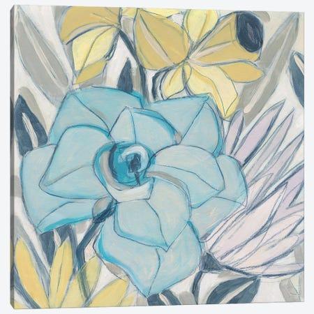 Etched Indigo Fresco II Canvas Print #JEV2972} by June Erica Vess Canvas Print
