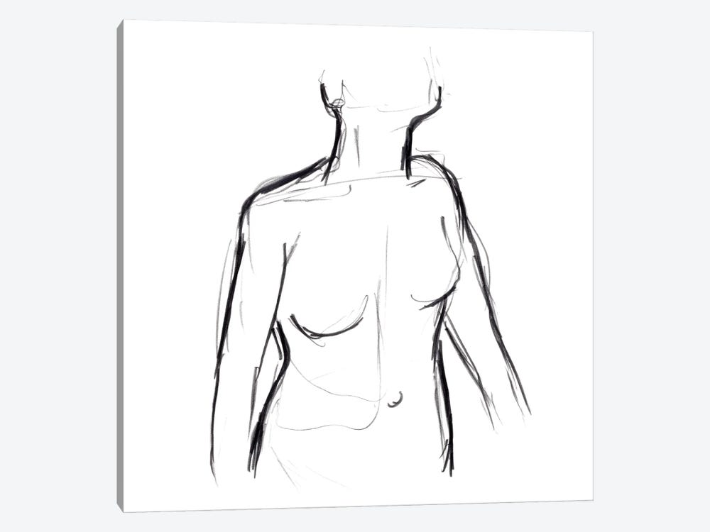Linear Nude I by June Erica Vess 1-piece Canvas Artwork